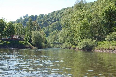 Mündung der Diemel bei Bad Karlshafen